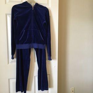 Vintage Juicy Couture Royal Blue Velour Sweatsuit